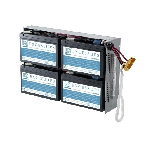 UPSBatteryCenter APC Smart-UPS 1500 RM 2U 120V SUA1500RM2U Compatible Replacement Battery Pack RBC24