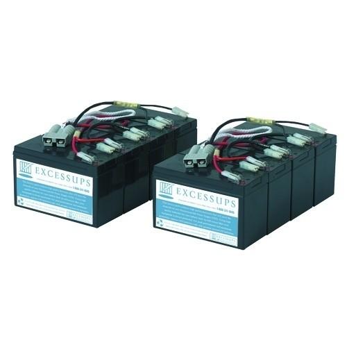 APC Smart UPS 3000VA Rack Mount 3U 208V APC3TA Battery Set